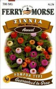 Ferry-Morse Seed Company 1178 Zinnia Lilliput Mix Seeds
