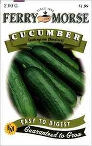 Ferry-Morse Seed Company 1282 Cucumber Tendergreen Seeds