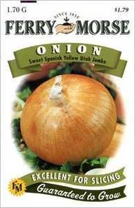Ferry-Morse Seed Company 1325 Onion Sweet Spanish Utah Seeds