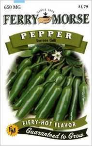 Ferry-Morse Seed Company 1337 Pepper Serrano Chile Seeds