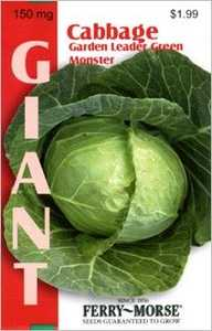 Ferry-Morse Seed Company 2138 Cabbage Garden Leader Green Seeds