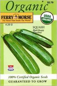 Ferry-Morse Seed Company 3124 Squash Black Beauty Seeds