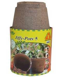 Jiffy JP508 Pot 5 Round 8pk