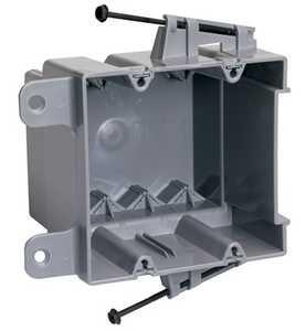 Legrand/Pass & Seymour S235RACS Screw Mount Steel Stud Box With Quick/Click