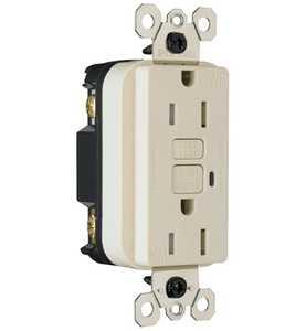 Legrand/Pass & Seymour 1595TRWRLACC4 TradeMaster/Spec Grade Weather-Resistant 15a Duplex Gfci, Light Almond