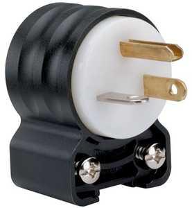 Legrand/Pass & Seymour PS5366SSANCCV4 Extra-Hard Use (ehu) Angled Devices - Plug, Black & White