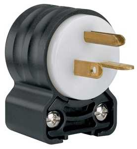Legrand/Pass & Seymour PS5466SSANCC4 Extra-Hard Use (ehu) Angled Devices - Plug, Black & White