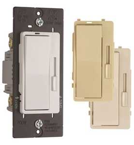 Legrand/Pass & Seymour H703 Pt CCCV6 Harmony Incandescent Single Pole/3-Way Dimmer Switch, 3 in Terchangeable Face Colors