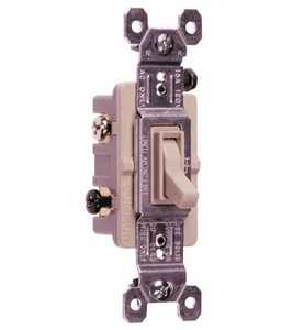 Legrand/Pass & Seymour 663LAGTU TradeMaster Grounding Toggle Switch, Light Almond