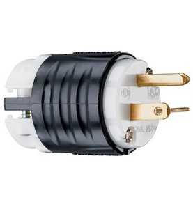 Legrand/Pass & Seymour PS5466XCCV4 20a, 250v Extra-Hard Use Spec-Grade Plug, Black & White