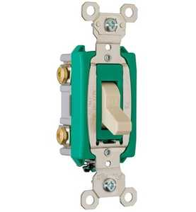 Legrand/Pass & Seymour PS30AC2ICC6 Industrial Extra Heavy-Duty Specification Grade Switch, Ivory