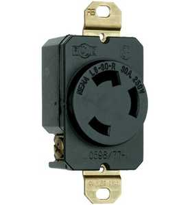 Legrand/Pass & Seymour L630RCCV3 Spec Grade Turnlok Locking Devices, 30a Single Receptacle