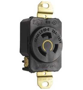 Legrand/Pass & Seymour L520RCCV3 20 Amp Nema L520 Single Receptacle