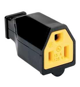 Legrand/Pass & Seymour SA993BKCC10 Black Connector 15amp 125v