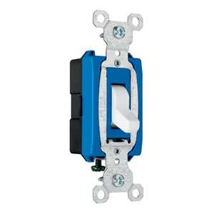Legrand/Pass & Seymour CS15AC1WCC8 Switch 15a Side Wire White