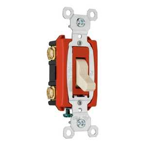 Legrand/Pass & Seymour CSB20AC1LACC8 Commercial Back Wire Single Pole Switch 20a 120/277 Light Almond