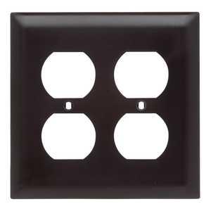 Legrand/Pass & Seymour TP82CC30 Wall Plate Outlet 2 Gang Brown