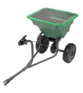Precision Products TBS4000PRCGY Pro Series 75 Lb Tow Behind Broadcast Spreader With Rain Cover