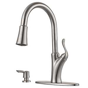 Pfister F5297TNS Eagan Stainless Steel Pulldown Kitchen Faucet