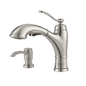 Pfister F-534-PGFS Glenfield Stainless Steel 1-Handle, Pull-Out Kitchen Faucet