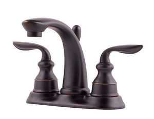 Pfister F048CB0Y Lavatory Faucet 2-Handle 4-In Centerset Avalon Tuscan Bronze