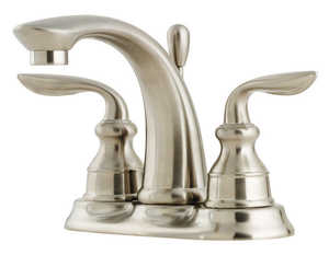 Pfister F048CBOK Lavatory Faucet 2-Handle 4-In Centerset Avalon Brushed Nickel