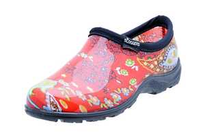 Sloggers 5104RD06 Women's Rain & Garden Paisley Red Shoe 6