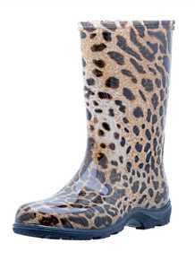Sloggers 5006LE10 Sloggers Leopard Fashion Boots 10