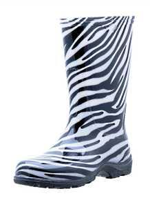 Sloggers 5006ZE06 Zebra Fashion Rain Boots 6