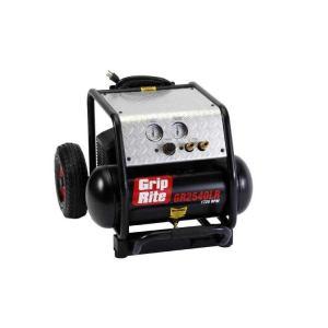 Grip-Rite GR2540LR Air Compressor 1725 Rpm 2hp 4 Gal With Wheels