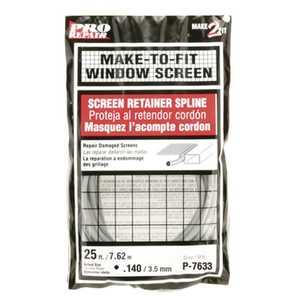 Prime Line Products P 7633 25-Foot .120 Diameter Gray Screen Retainer Spline