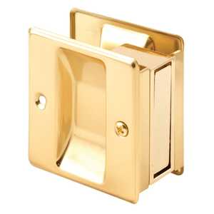 Prime Line Products N 6770 2-3/4-Inch Brass Pocket Door Mortise Pull