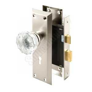 Prime Line Products E 2496 2-3/8-Inch Backset Nickel Finish Mortise Keyed Lock Set
