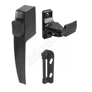 Prime Line Products K 5007 Black Push Button Storm Door Latch Set