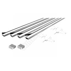 Prime Line Products PL 7812 3-Foot Aluminum Screen Frame Kit White