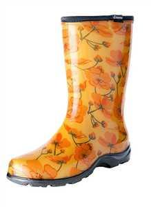 Sloggers 5016CAD09 Women's Tall Rain & Garden Boots California Dreaming 9