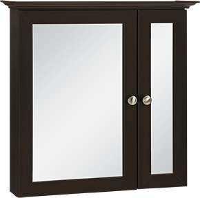 Continental Cabinets CBB24-JAV 5-Inch X 25-Inch X 24-Inch Java Finish Framed Bi-View Medicine Cabinet