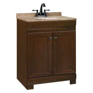 Continental Cabinets CBC20B24 18-1/2 -Inch X 24-1/2-Inch X 34-1/2-Inch Caf With Black Glaze Finish Maple Recessed Panel Westbrook Vanity Combination With Top