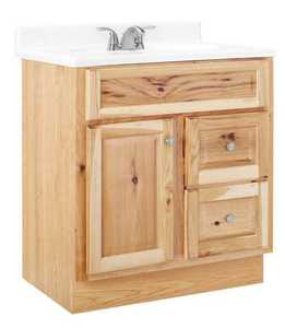 Continental Cabinets CBHNHK30D 21-Inch X 30-Inch X 33-Inch Hickory Finish Hickory Raised Panel Hamilton Vanity