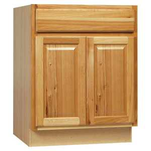 Continental Cabinets CBKB27-NHK 24-Inch X 27-Inch X 34-Inch Hickory Finish Hickory Raised Panel Base Cabinet