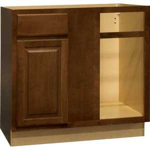 Continental Cabinets CBKBBC45-COG 24-Inch X 36-Inch X 34-1/2-Inch Cafe Finish Maple Raised Panel Blind Base Corner Cabinet