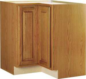 Continental Cabinets CBKBLS36-MO Corner Base Cabinet Lazy Susan