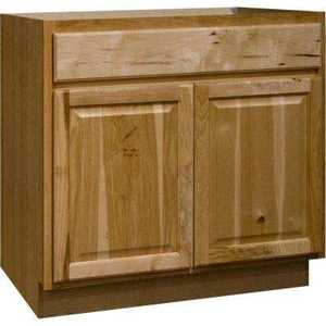 Continental Cabinets CBKSB36-NHK 24-Inch X 36-Inch X 34-Inch Hickory Finish Hickory Raised Panel Sink Base Cabinet