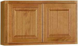 Continental Cabinets CBKW3018-MO 12-Inch X 30-Inch X 18-Inch Medium Finish Oak Raised Panel Wall Bridge Cabinet