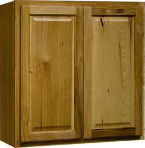 Continental Cabinets CBKW3030-NHK 12-Inch X 30-Inch X 30-Inch Hickory Finish Hickory Raised Panel Wall Cabinet