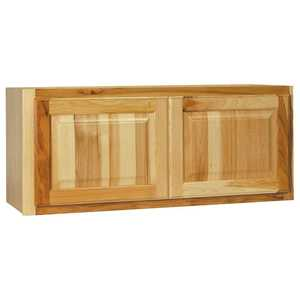 Continental Cabinets CBKW3615-NHK 12-Inch X 36-Inch X 15-Inch Hickory Finish Hickory Raised Panel Wall Bridge Cabinet