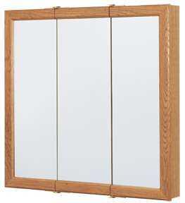 Continental Cabinets CBT30-11-B 30 In Tri-View Mirrored Medicine Cabinet