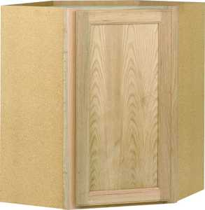 Continental Cabinets CW2430OHD 12-Inch X 24-Inch X 30-Inch Unfinished Oak Flat Panel Wall Cabinet