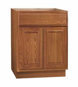 Continental Cabinets KVS24-MO 21-3/8 -Inch X 24-Inch X 33-1/2-Inch Medium Finish Oak Raised Panel Hamilton Vanity Sink Base