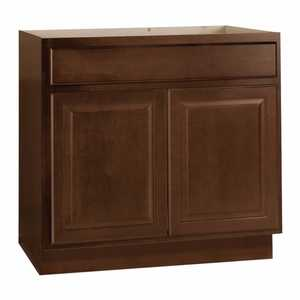 Continental Cabinets KVS36-COG 21-3/8 -Inch X 36-Inch X 33-1/2-Inch Cafe Finish Maple Raised Panel Hamilton Vanity Sink Base